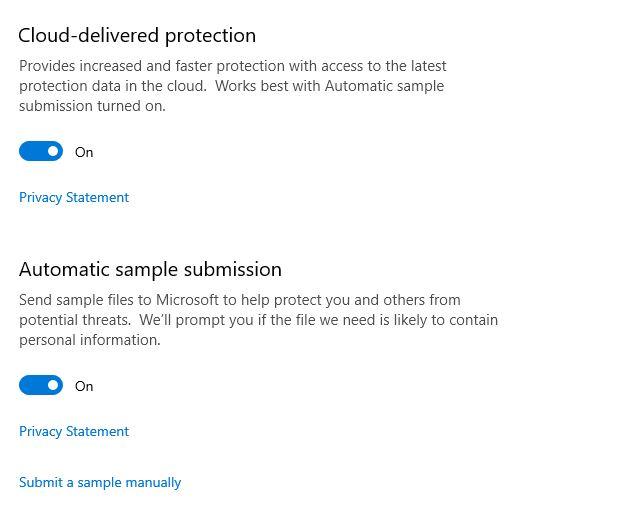 Windows defender cloud delivered protection - Softwarebottle