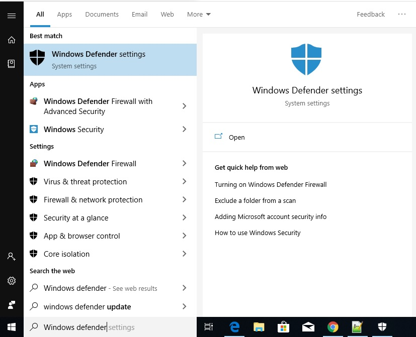 where do i find windows defender on my computer - Softwarebottle