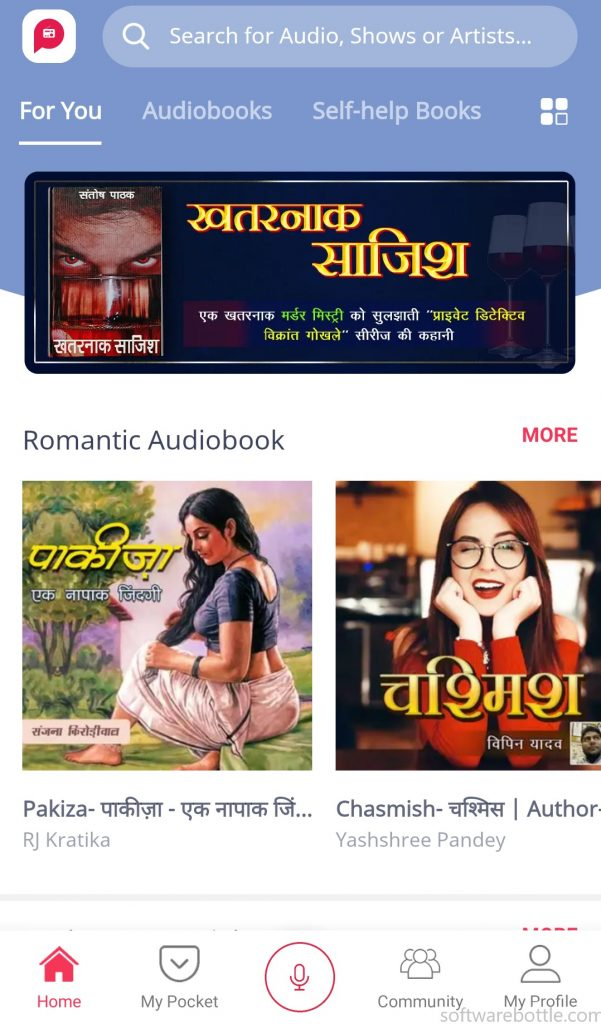 Pocket FM - Best app for Hindi audio books and Podcast - Home