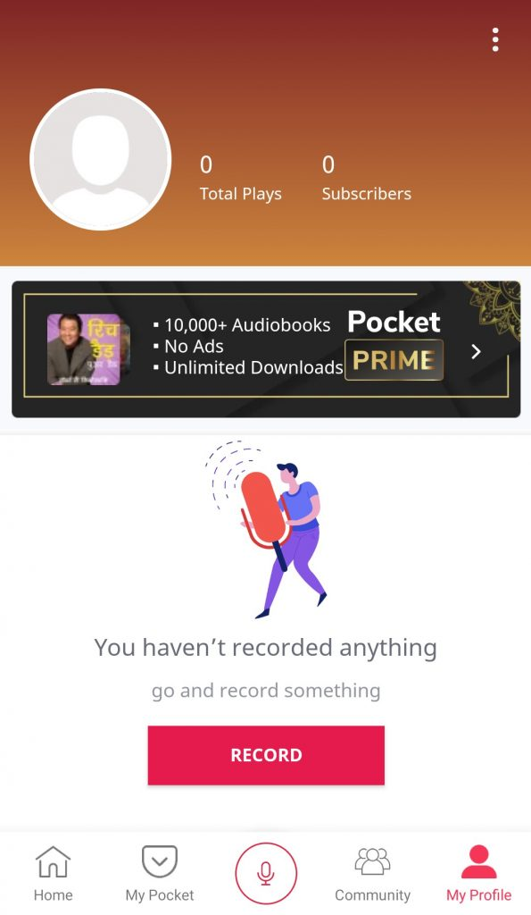 Pocket FM - Best app for Hindi audio books and Podcast - My profile