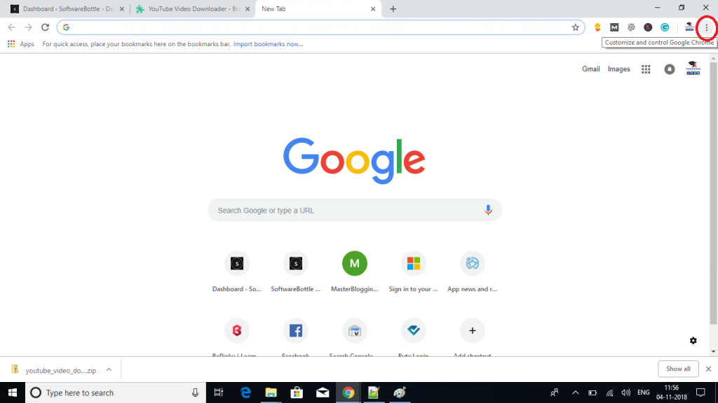 Customize and control google chrome option - SoftwareBottle