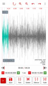 AudioLab Edit screen