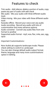 AudioLab features