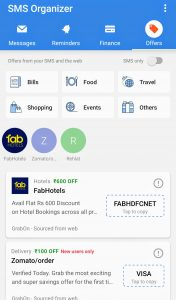 Microsoft SMS organizer - offers section - softwarebottle