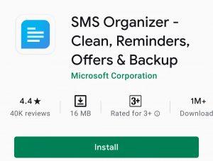SMS organizer - play store - softwarebottle