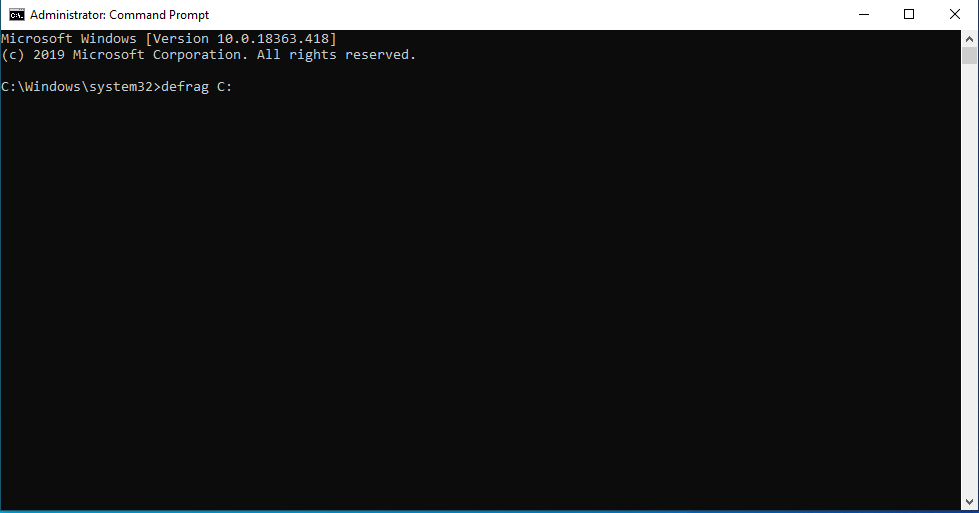 Windows 10 Defragmentation through cmd prompt - softwarebottle