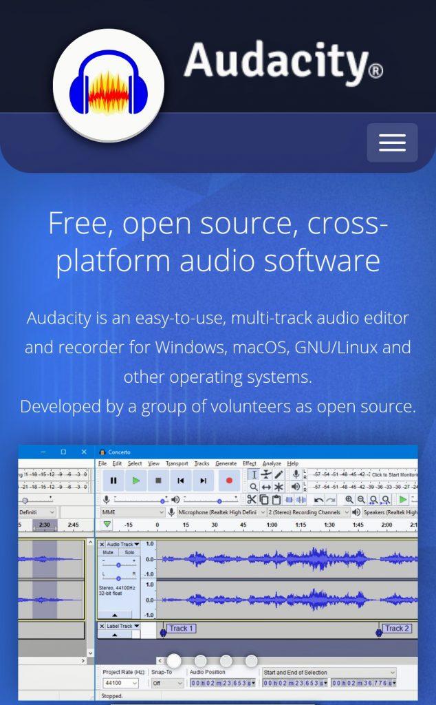Audacity - best free online audio editor - softwarebottle
