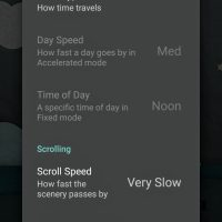 Paperland live wallpaper - Time and scrolling settings