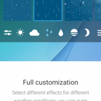 Weather live wallpaper by AccuWeather - Customisation