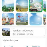 YoWindow landscapes